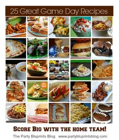 25 Great Game Day Recipes | partybluprintsblog.com