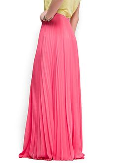 @ Mango | (Pleated Maxi) Skirt in Pink, ref. 61304553 - Volare, $89.99