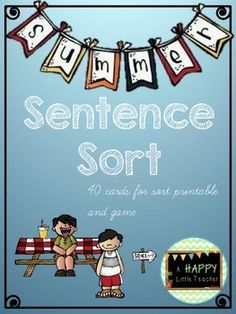Summer Types of Sentences Sort & Game