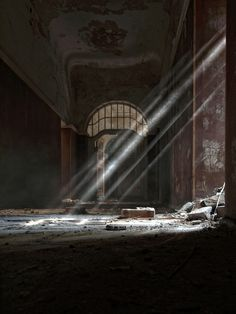 - rays of light by Claudia Leverentz captures the ruins Abandoned Buildings, Abandoned Places, Light And Shadow Photography, Pics Art, Urban Exploration, Urban Decay, Concept Art, Old Things, Decoration