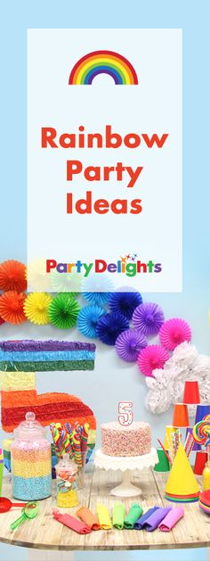 Party in all the colours of the rainbow with our vibrant rainbow party ideas! Browse our rainbow decorations and find out how to make a rainbow cake! Perfect for a kids' birthday party.