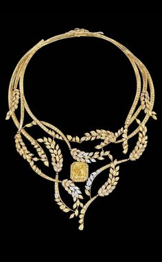 Chanel Puts the Oui in Wheat in Its New High Jewelry Collection. This is the diamond Fête des Moissons necklace.