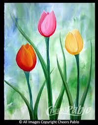 Image result for spring acrylic painting