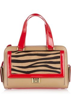 Jimmy Choo  Catherine leather and calf hair tote
