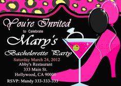 Bachelorette Party Invite  DIY Custom Printable by M2MPartyDesigns
