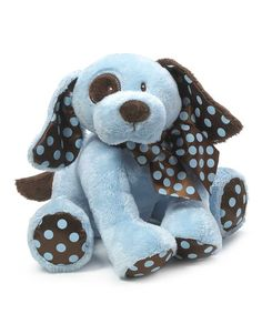 Another great find on #zulily! Blue & Brown Chocolate Drops Puppy Plush Toy by GANZ #zulilyfinds