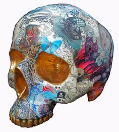 "Saatchi Online Artist: RAra Collective; Mixed Media 2012 Sculpture ""Skull 5 by Miranda Woodard - SOLD. Print available"""