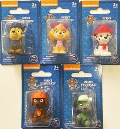 Nickelodeon Paw Patrol Mini Figurine/Cake Toppers ~ set of 5 ~ Rocky, Zuma, Skye, Marshall and Chase -- New and awesome product awaits you, Read it now  : Gift for Guys