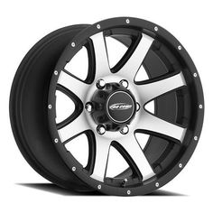 Series 86 Reflex 17x9 with 6 on 5.5 Bolt Pattern Machined With Black Trim Pro Comp Alloy Wheels
