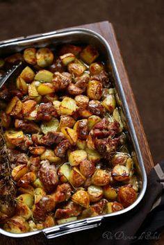 Agneau_pommes_de_terre_four. Lamb Recipes, Lunch Recipes, Healthy Dinner Recipes, Cooking Recipes, Lamb Dishes, Italian Recipes, Food Inspiration, Love Food, Food Porn