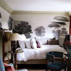 "25 Likes, 2 Comments - Jan J Mercado (@janjmercado) on Instagram: ""Good night, inspiring by this bedroom #wallpaperdecor #englishhome#decoration#gracie#adigest"""