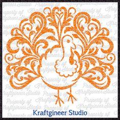 Swirly Turkey Filigree SVG cut file for by KraftgineerStudio