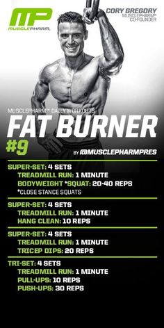 Fat burner workout. Muscle pharm