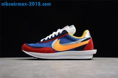 best service 9d1dd dfbb2 2018 New Mens Sacai x Nike LDV Waffle Sneakers For Sale Multicolor