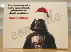 Star Wars Christmas card - Holiday card - Darth Vader - funny - geeky - nerdy