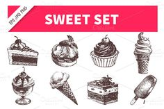 Hand Drawn Sweet Icon Set - Icons