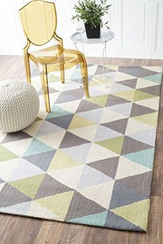 Nuloom 5' x 8' Hand Hooked Anderson Rug in Green nuLOOM https://www.amazon.com/dp/B011VSALVC/ref=cm_sw_r_pi_dp_x_hFRyybHWHW0T0