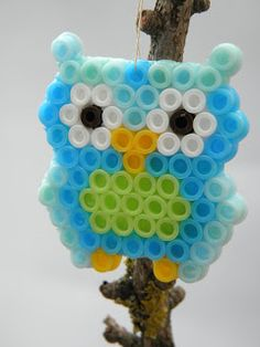 Owls with Perler beads - for my craft club kids