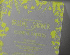 Rustic Garden Bridal Shower Invitation