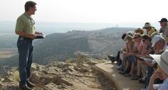 Studying the life of Christ, overlooking the Jezreel Valley