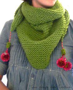 Trendy shawl bohême Au pays des Cactus 1