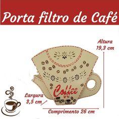 Porta filtro de café em mdf
