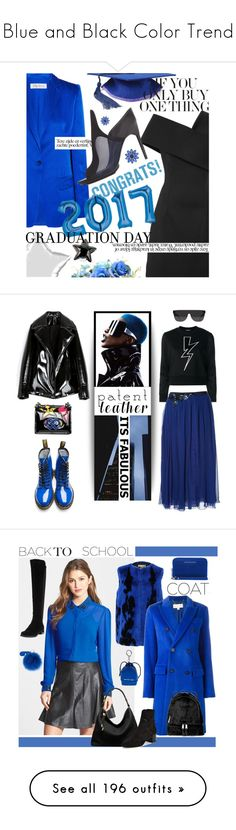 """""""Blue and Black Color Trend"""" by yours-styling-best-friend ❤ liked on Polyvore featuring black, Blue, TheDress, Cushnie Et Ochs, MaxMara, 3.1 Phillip Lim, Kate Spade, Neil Barrett, Matthew Williamson and RetroSuperFuture"""