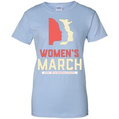 Women's March on Washington women s march on Washington Ladies Custom 100% Cotton T-Shirt