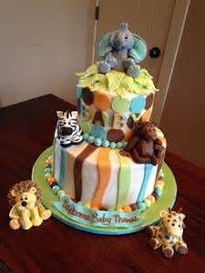 Decadent Designs: Jungle Animal Baby Shower Cake