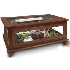 Majestic Reptile Coffee Table Cage: Furniture that doubles as creative pet surrounds for a beautiful abode