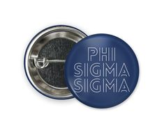 Standard size round pin back style button. Engraved Tumblers, Phi Sigma Sigma, Coupon Codes, Different Colors, Size 2, Buttons, Style, Knots, Plugs