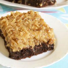 German Chocolate Brownies :)