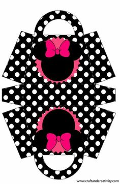 Minnie Mouse purse template I used for table Best Images of Free Printable Paper Purse Patterns - Printable Paper Bag Template, Free Printable Paper Purse Template Pattern and Free Leather Purse Pattern PrintablesThis Pin was discoveredRisultati imma Diy Gift Box, Diy Box, Minnie Mouse Party, Mouse Parties, Printable Box, Printables, Paper Toys, Paper Crafts, Paper Box Template