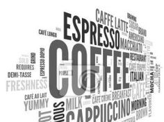 "Wall Mural ""isolated, white, concept - coffee concept in word tag cloud"" ✓ Easy Installation ✓ 365 Days Money Back Guarantee ✓ Browse other patterns from this collection!"
