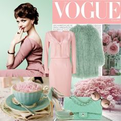 """Mint and Pink..."" by ornellav ❤ liked on Polyvore"