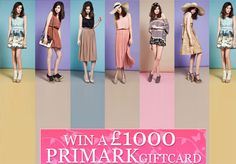 Win a Primark gift card Shopping Vouchers, High Street Brands, Thing 1, Cards, Fashion, Moda, Fashion Styles, Maps