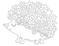 Kirigami, Cool Paper Crafts, Hedgehog Art, Autumn Crafts, Art Template, Animal Coloring Pages, Silhouette Art, Wedding With Kids, Paper Cutting