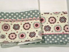 Grey Polka Dot Tea Towel Flour Sack Towel Set by RegansSweatShoppe