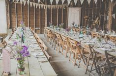 Wild Flowers, Camping and Vintage Inspired Dress For A Laid Back Humanist Barn Wedding