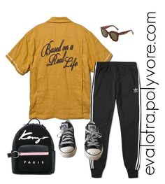 """""""Untitled #846"""" by evalofra on Polyvore featuring DV, adidas, Converse, Kenzo, CÉLINE, outfit and ootd"""