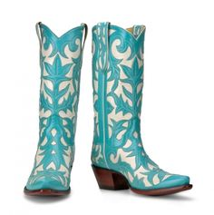 Im wearing these at my wedding one day!! Turquoise Cowboy Boots from Back At The Ranch