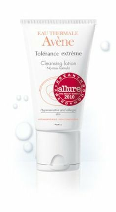 Avene Tolerance extreme Cleansing lotion, , Net Wt. 1.69 oz. Package by Avene. $22.45. Formulated with Avène Thermal spring water. Recommended by dermatologists worldwide. Ultra gentle, no-rinse lotion cleanses the face and eye, leaving the skin clear and fresh without irritation. Indication  Chemical peels  Vascular lasers   Microdermabrasion  Cosmetic surgery  Allergic reactions  Cosmetic intolerance  Sensitive / hypersensitive. Save 25%!
