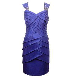 London Times Shutter Dress Royal Blue 10