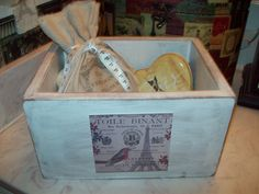 French country box Organizer Storage