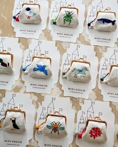 embroidery mini pouches by Yumiko Higuchi Embroidery Art, Cross Stitch Embroidery, Embroidery Patterns, Patch Bordado, Sewing Crafts, Sewing Projects, Art Du Fil, Handicraft, Needlework