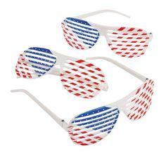 Patriotic Shutter Shading Glasses (1 dozen) - Bulk Fun Express http    a7d1f672106b