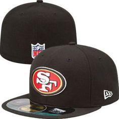 c8793d0d $18.99 San Francisco 49ers New Era NFL OnField Fitted 59FIFTY Flat Bill  Brim Cap Hat SF