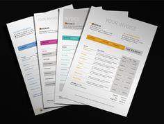 Modern Invoice by Design District, via Behance