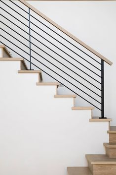 Treppen Stairway Railing Ideas Savvy and Inspiring stair and railing stairs Ideas Inspiring railing Savvy stair stair railing ideas staircaserailings Stairway Treppen Wood Stair Treads, Modern Stair Railing, Stair Railing Design, Iron Stair Railing, Staircase Railings, Stair Decor, Modern Stairs, Wood Stairs, Stairways