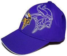 Reebok Structured Flex Cap Hat NFL Football Minnesota Vikings BRAND NEW  College Hats 173c94e6f59a